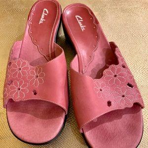 Clark's Leather Sandals SZ 10